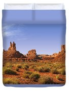 Mysterious Valley Of The Gods Duvet Cover by Christine Till