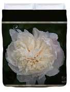 Mysterious White Peony Abstract Painting Duvet Cover