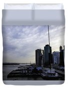 Mystery Of The Missing P Aka Pier 17 Duvet Cover