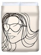 Mystery Woman Duvet Cover