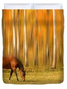 Mystic Autumn Grazing Horse Duvet Cover