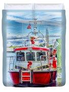Mystic Fireboat Duvet Cover