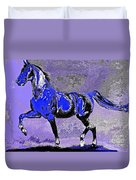 Mysterious Stallion Abstract Duvet Cover