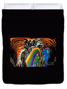 Mystic Stripers Tiger Emblem Abstract Duvet Cover