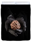 Mystical Hands Holding A Woven Ball Duvet Cover
