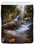 Mystical Pool Duvet Cover by Debra and Dave Vanderlaan