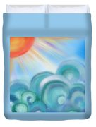 Mystical Sea Squared Duvet Cover
