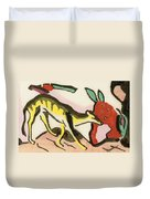 Mythical Animal  Duvet Cover by Franz Marc