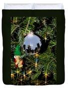 N Y C Ornament Duvet Cover