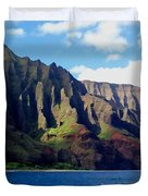 Na Pali Coast On Kauai Duvet Cover