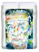 Nabokov Vladimir - Watercolor Portrait Duvet Cover