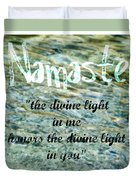 Namaste With Crystal Waters Duvet Cover