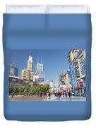Nanjing Road In Shanghai China Duvet Cover