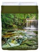 Nant Mill Waterfall Duvet Cover