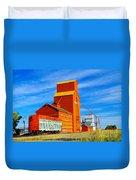 Nanton Grain Elevators  Duvet Cover