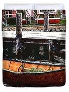 Nantucket Sleigh Ride Whaleboat Duvet Cover