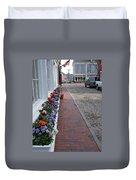 Nantucket Street Scene Duvet Cover