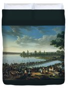 Napoleon Before The Battle Of Wagram, 6th July 1809 Duvet Cover