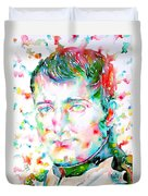 Napoleon Bonaparte - Watercolor Portrait Duvet Cover