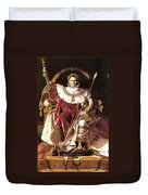 Napoleon I On His Imperial Throne Duvet Cover
