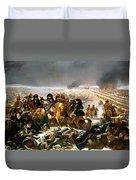 Napoleon On The Battlefield Of Eylau Duvet Cover