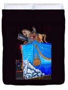 Napoleon Rides  Duvet Cover