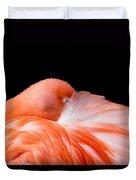 Napping Flamingo Duvet Cover