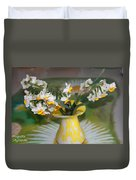 Narcissus In The Vase Duvet Cover