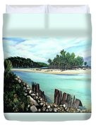 Nariva River And Cocos Bay Duvet Cover
