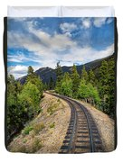 Narrow Gauge Tracks In Silver Country Duvet Cover