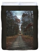 Narrow Path On Recovery Road Duvet Cover