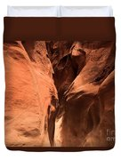 Narrow Red Rock Slots Duvet Cover by Adam Jewell