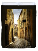 Narrow Street In Perigueux Duvet Cover by Elena Elisseeva