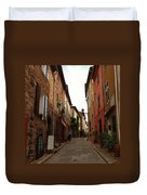Narrow Street In Provence Duvet Cover