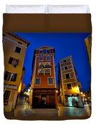 Narrow Streets And Buildings - Rovinj Croatia Duvet Cover