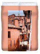 Narrow Streets Of Albarracin  Duvet Cover