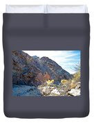 Narrowing Of Trail In Big Painted Canyon Trail In Mecca Hills-ca Duvet Cover