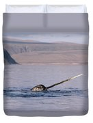 Narwhal Surfacing Baffin Isl Canada Duvet Cover