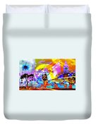 Nasdaq Who What When Where And Why Duvet Cover