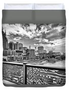 Nashville From The Shelby Bridge Duvet Cover