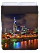 Nashville Is A Colorful Town Duvet Cover