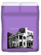 Nashville Skyline Belle Meade Plantation - Violet Duvet Cover