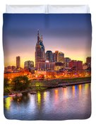 Nashville Skyline Duvet Cover by Brett Engle