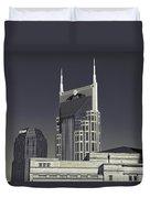 Nashville Tennessee Batman Building Duvet Cover