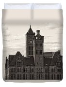 Nashville's Union Station Duvet Cover by Dan Sproul