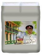 Nassau Bahamas Policeman Duvet Cover