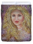 Natalie In Lilacs Duvet Cover
