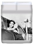 Natalie Wood At A Drive-in Duvet Cover