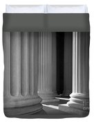 National Archives Columns Duvet Cover by Inge Johnsson