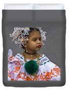 National Costume Of Panama Duvet Cover